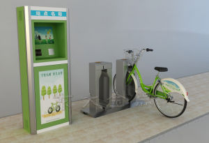 Public Bicycles-Stainless Steel Pipe Single Lock Double Column pictures & photos