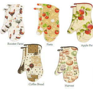 Printed Multicolor Oven Mitts New Designs pictures & photos