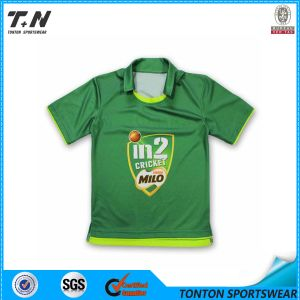 100% Polyester Cricket Uniforms Jersey with Pattern