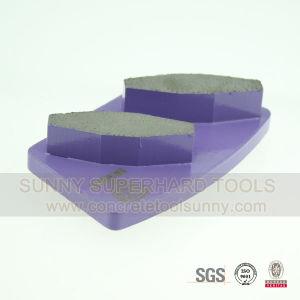 2 Segments Diamond Floor Grinding Plates pictures & photos