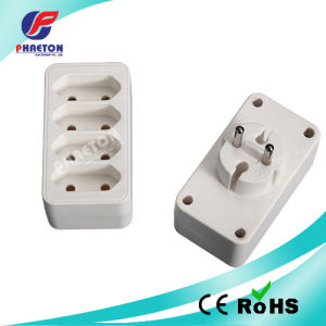 Europe Plug to 4 Way Italy Socket Adaptor pictures & photos