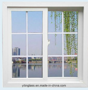 Aluminum French Sliding Window with Double Corss Bar Decoration Glass pictures & photos