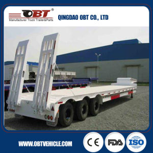 Utility Truck Trailer 3 Axle Low Bed Tractor Trailer Lowbed Semi Trailer pictures & photos