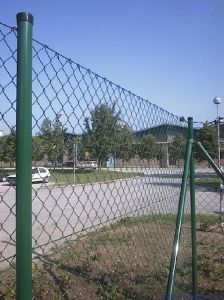 PVC Coated Chain Link Fencing / Chain Link Mesh / Sefety Fence Directly Factory Yaqi Supply pictures & photos