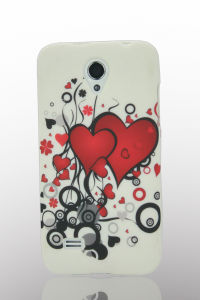 Coulorful Flower Design Mobile Phone Waterprinted TPU Case for Huawei G330 pictures & photos