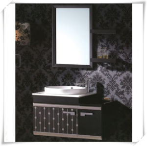 Modern Design Bathroom Vanity with Marble Basin pictures & photos