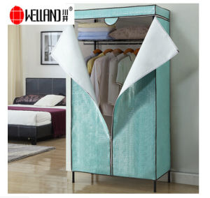 Epoxy Coated 3 Tiers Metal Wardrobe Rack for Bedroom Furniture pictures & photos