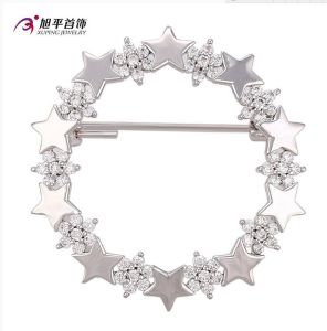 Xuping Fashion Elegant Rhodium Star Crystals From Swarovski Jewelry Element Brooch -00007 pictures & photos