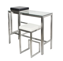 Stainless Steel Glass Bar Table Set pictures & photos