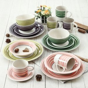 Hand Painting Round Circle 16PCS Dinnerware Set pictures & photos
