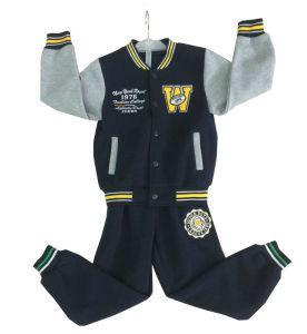 Winter Fleece Cotton CVC T/C Boy′s Baseball Clothing Set in Kids Suit Clothes Set Swb-104 pictures & photos