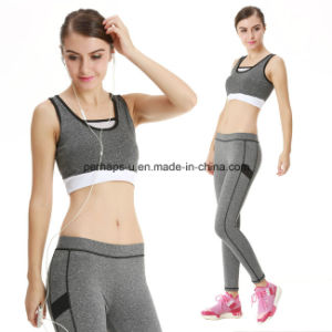 Fashion Quickly Dry Comfortable Gym Bra Yoga Pants Fitness Suit pictures & photos