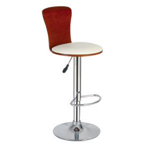 Restaurant Dining Coffee Furniture Swivel Wooden Bar Stools Chair (FS-WB946) pictures & photos