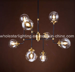 Metal Chandelier with Colored or Clear Glass (WHG-652) pictures & photos