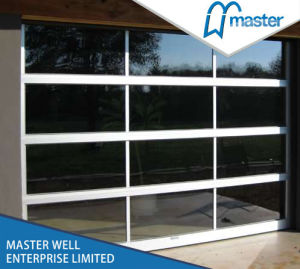 Customised Size Automatic Operation Curved Glass Door/CE Approved Glass Security Stainless Steel Door pictures & photos