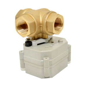 OEM 3 Way Electric Water Control Valve Mini Motorized Valve with Manual Operation pictures & photos