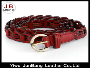 Fashion Bonded Leather Weave Belts pictures & photos
