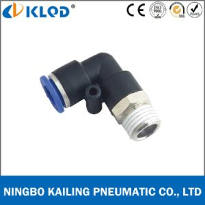 Plastic Material Male Elbow Pneumatic Fitting Pl 4-03 pictures & photos