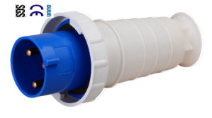 Industrial Plug (QJ-033) of 63A 2p+E IP67 PP PA Plastic Cee