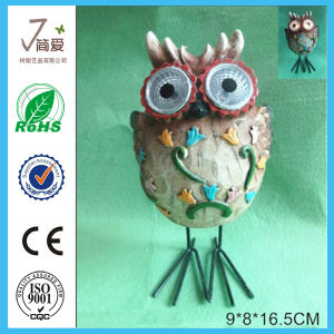 Polyresin Owl Solar Light for Garden Decoration pictures & photos