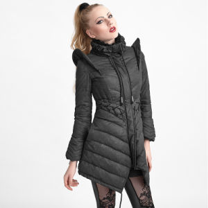 Gothic Flying Sleeves Long Down Coat (Y-616) pictures & photos