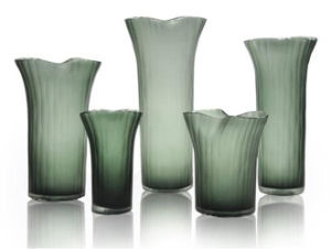Green Glass Vase for Home/Hotel Decoration