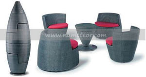 Mtc-128 Outdoor Garden Sofa Set / Bullet Rattan Coffee Set Furniture pictures & photos