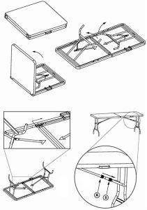 Convenient Folding Meeting Plastic Table pictures & photos