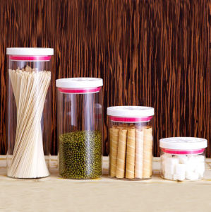 High Borosilicate Glass Food Storage Jar Sealed Lid Glass Kitchen Jar pictures & photos