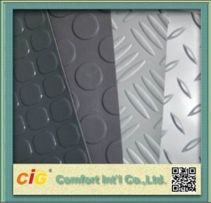 Steel Design Coin Design PVC Flooring for Auto Car pictures & photos
