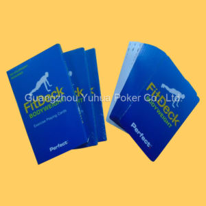 Custom Design PVC Fitness Educational Cards Playing Cards pictures & photos