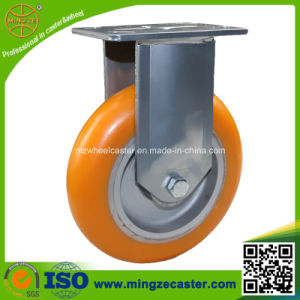 Heavy Duty Caster with Orange PU Wheels pictures & photos