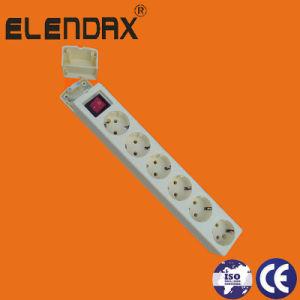 6 Way European 10/16A Extension Power Cord (E9006ES) pictures & photos