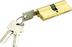 High Quality Brass/Zinc Computer Key Lock Cylinder (C3370-221 PB) pictures & photos