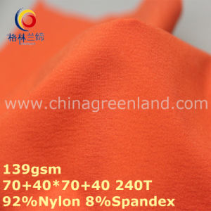 Nylon Two-Ways Spandex Plain Dyeing Fabric for Garment (GLLML292) pictures & photos