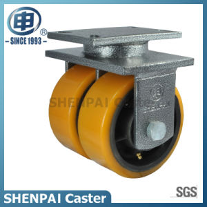 Super Heavy Duty Iron Core PU Swivel Caster Wheel pictures & photos