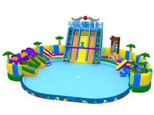 Floating Inflatable Water Parks with Large Pool and Slide pictures & photos