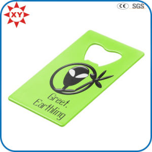 Custom Green Earthling Credit Card Bottle Opener pictures & photos