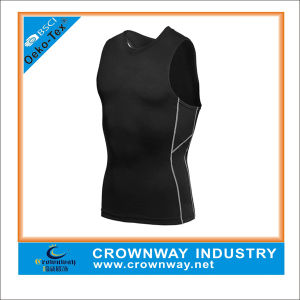 Wholesale Fitness Sports Compression Sleeveless T Shirt for Men pictures & photos