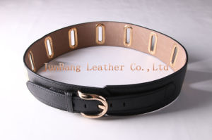 Alloy Oval Buckle Big Flat Hole with Rivet Belts pictures & photos