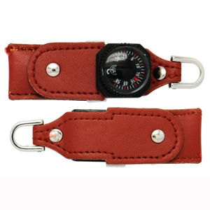 Hot Sale High Quality Portable Leather (PU) Style Memory Stick with Thermometer pictures & photos