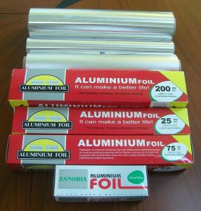 Household Aluminium/Aluminum Foil Roll for Food pictures & photos