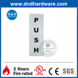 SS304 Stainless Steel Square Sign Plate for Door (DDSP004) pictures & photos