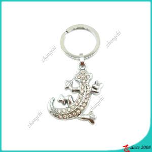 Zinc Alloy Crystals Animal Gecko Key Chain (KC)