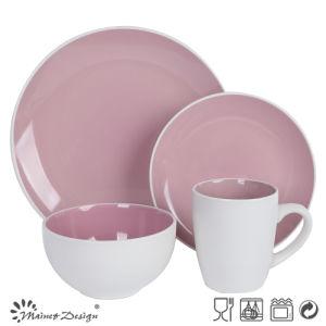 Stoneware Bicolor Dinner Set pictures & photos