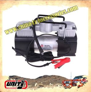 Wholesale 12V Car 2 Cylinder Air Pump Auto Air Compressor Auto Tyre Inflator with Jump Leads