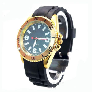 Quartz Movement Alloy Case Silicon Watch pictures & photos