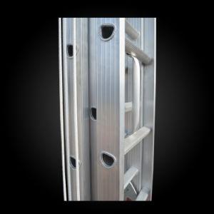 Multi-Purpose 3 Parts Aluminum Telescopic Firefighting Ladder pictures & photos