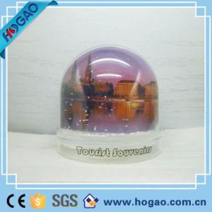 Plastic Christmas Photo Frame Snow Globe (HG-006) pictures & photos