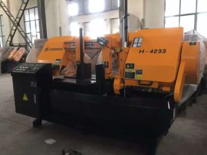High Grade Semi-Auto Band Saw Machine H-4233 pictures & photos